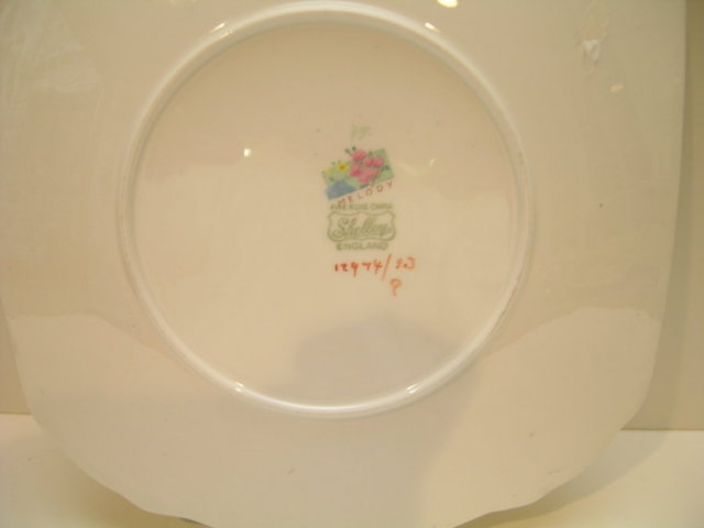 Shelley Melody Chintz Sandwich Plate