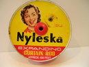 Nyleska Expanding Curtain Rod Advertising Tin