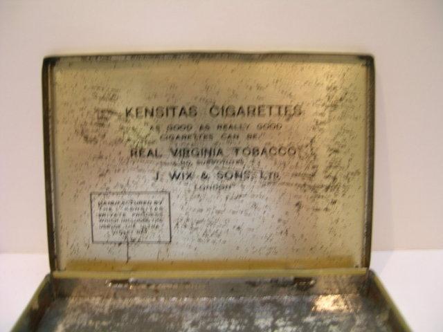 Kensitas Cigarettes Advertising Tin