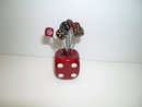 Bakelite Dice Cube with Dice picks-Vintage Bar
