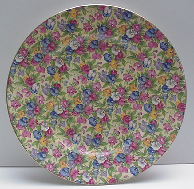 Royal Winton Vintage Sweet Pea Charger