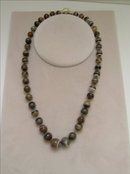 Victorian Long Strand Necklace of Cocoa colored