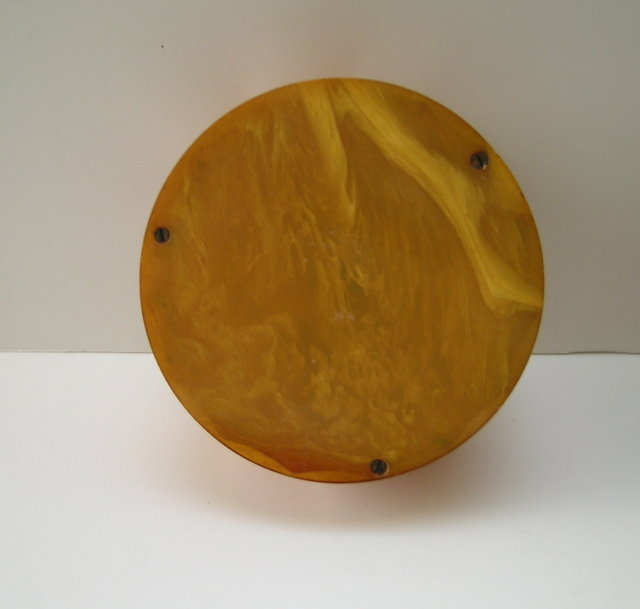 Bakelite Deco Ribbed Molasses Colored Box
