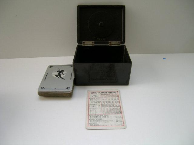 Bakelite Vintage Bridge Box with Trump Marker