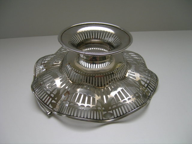 English Sterling Silver Basket with Handle