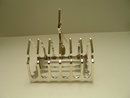 Sterling Silver Antique Sheffield Toast Rack