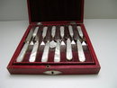 Sterling Silver and Mother of Pearl Dessert Set for 12