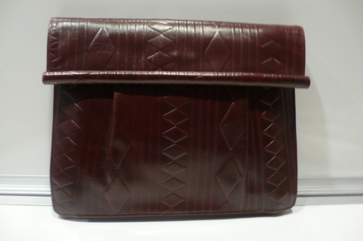 Fendi Brown Leather Clutch Bag /Strap