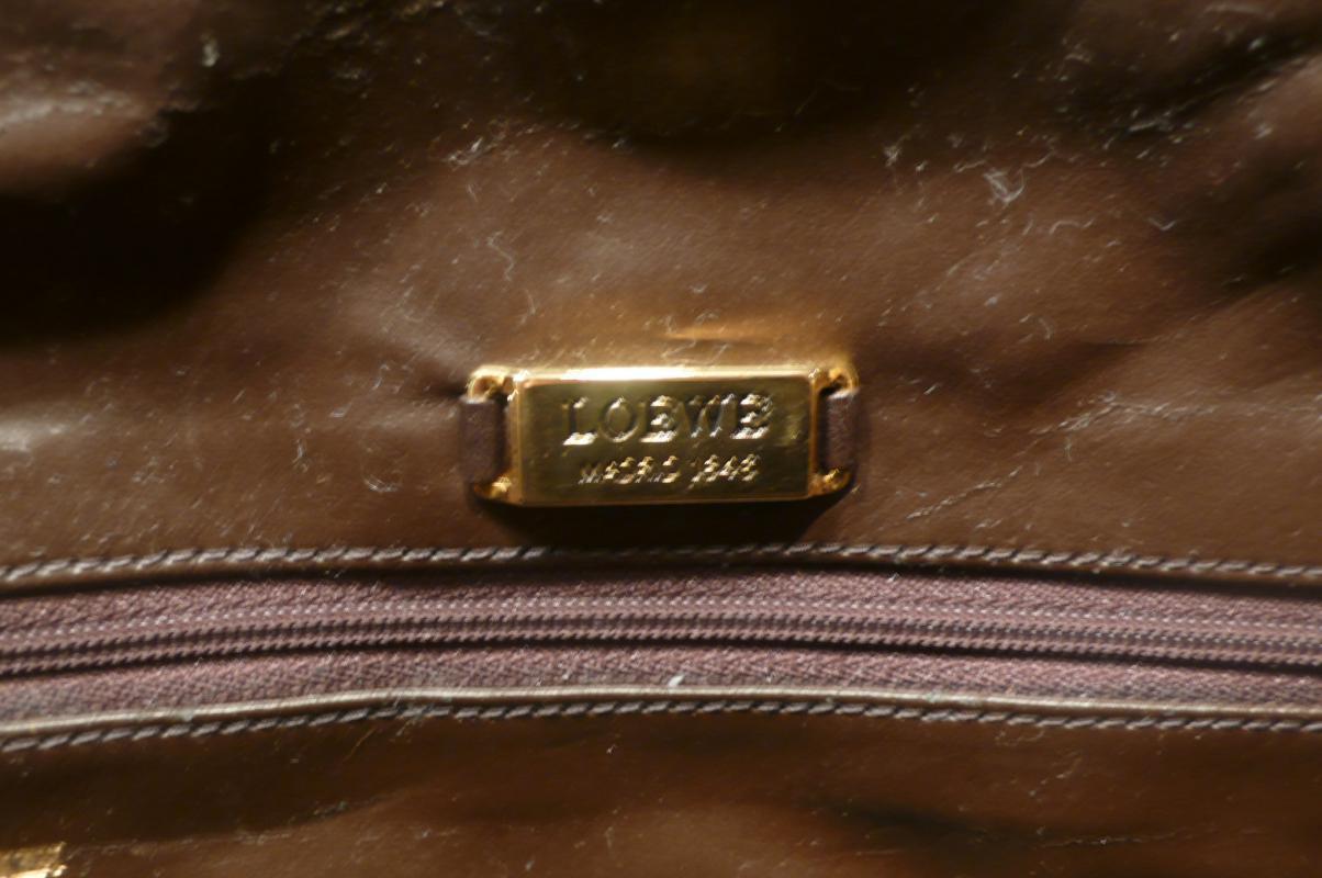 Loewe Suede Taupe Shoulder Bag