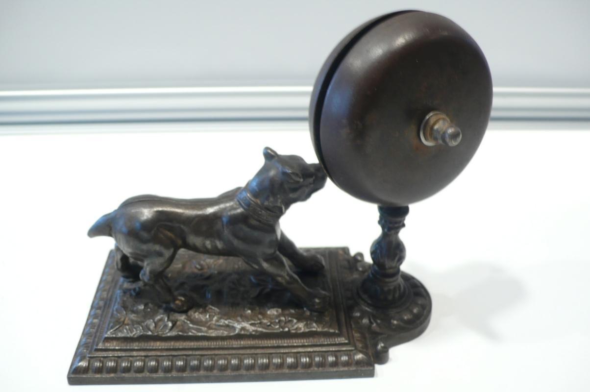 French Bronze  Desk Dog Bell