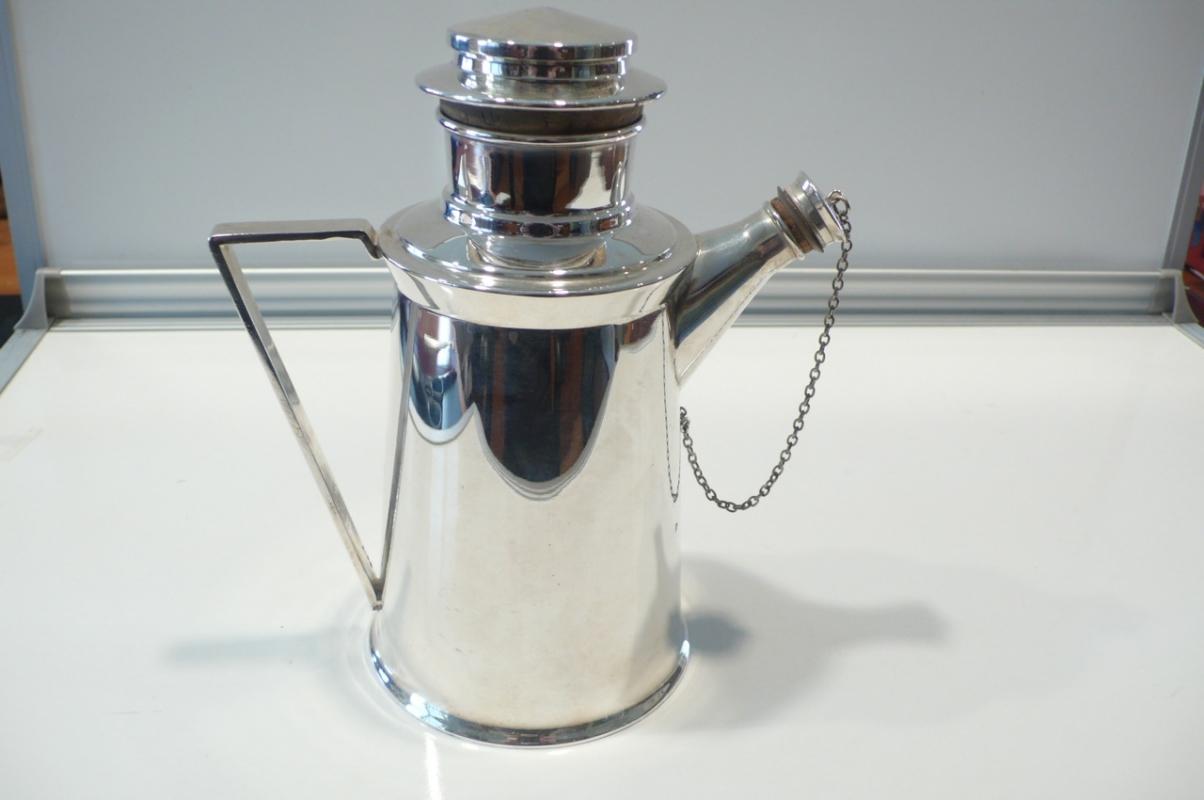 Deco Silver Plate Martini Shaker