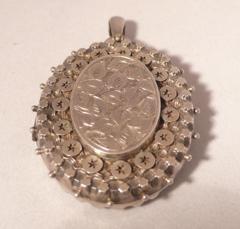 Victorian English Sterling Silver Locket