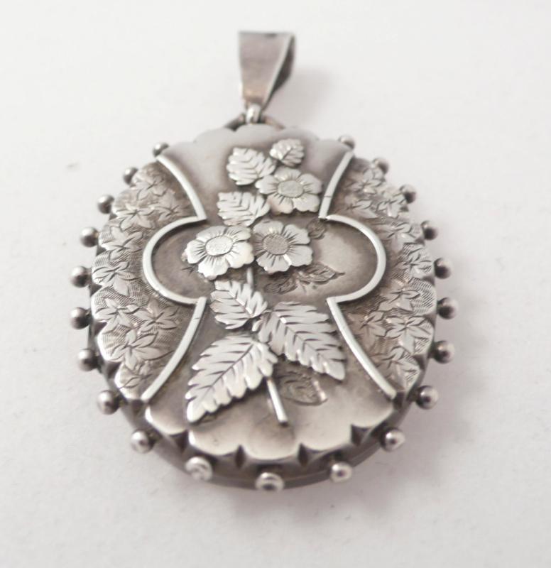 English Victorian Silver Locket