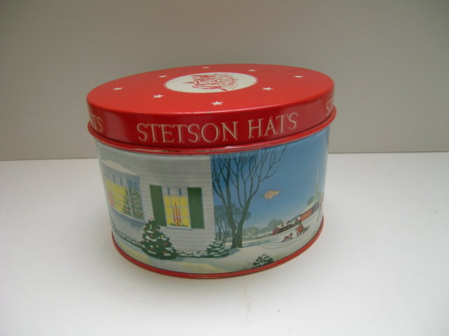 Stetson Hats  Hat Advertising Tin