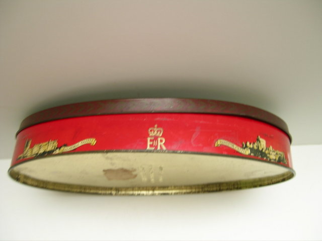Carr Biscuit tin of Queen Elizabeth and Prince