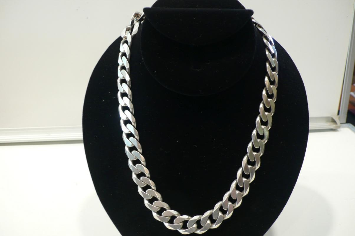 Silver Heavy Link Chain Necklace