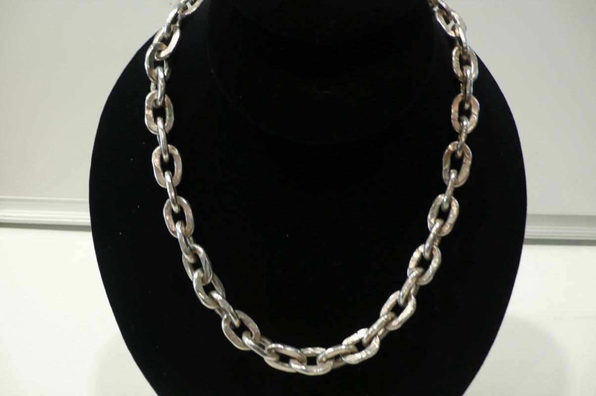 Silver Heavy Link Necklace