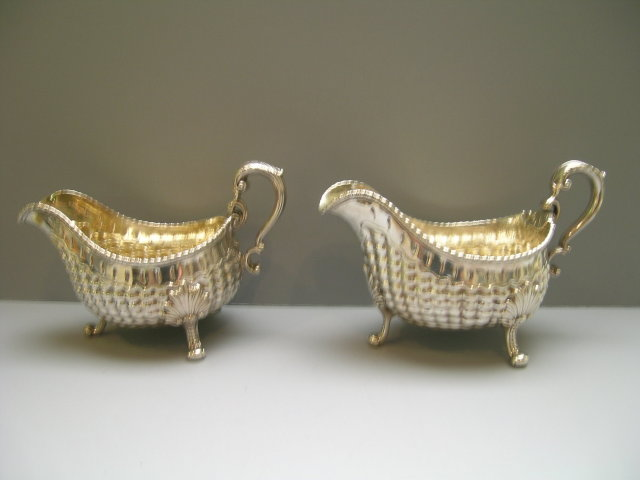 Sterling Silver Georgian Pair of Sauce Boats