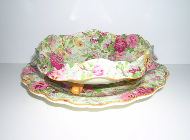 Crown Ducal Peony Chintz Salad Drainer &