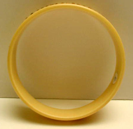 Celluloid vintage bangle with gold rhinestones