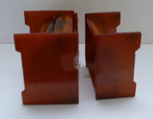 Bakelite Set Butterscotch Vanity Boxes
