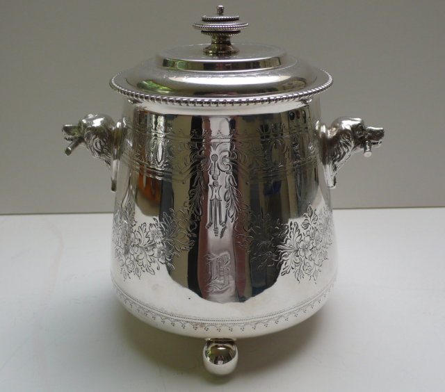 Victorian Silverplate Biscuit Box
