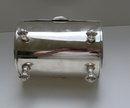 Victorian Silverplate Pocketbook Biscuit Box