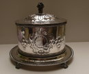 Victorian Silverplate Oval Biscuit Box