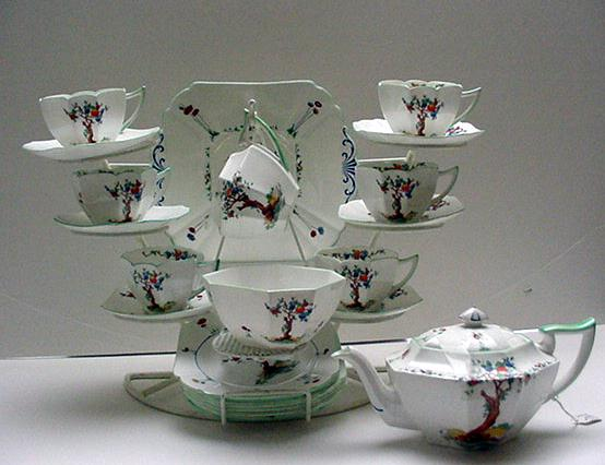 Shelley  Queen Anne  Crabtree Teaset