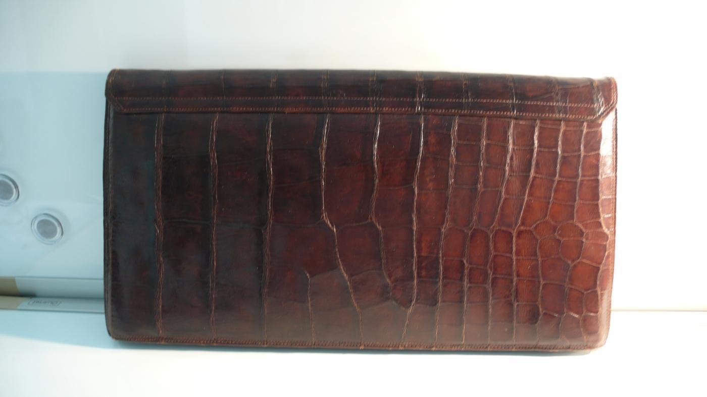 Vintage Alligator Clutch Bag
