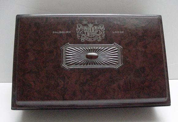 Bakelite  English Salisbury Lodge Card Box