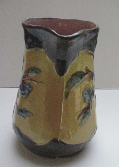 Majolica Six Sided Flower Pitcher