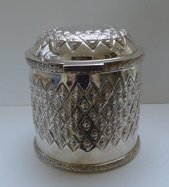 Victorian Silverplate Biscuit Box