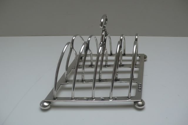 English Sterling Silver Toast Rack