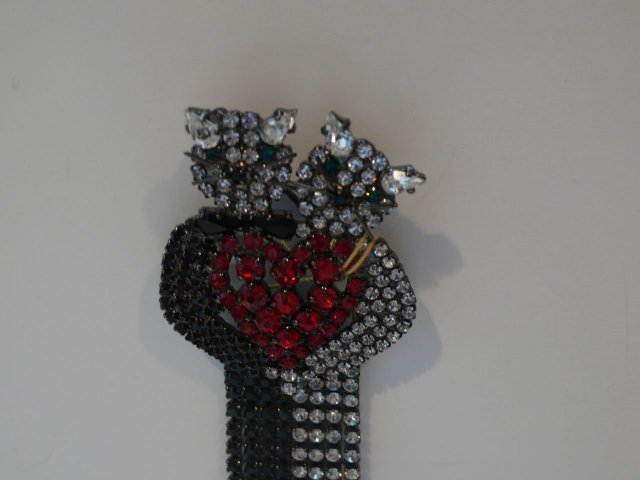 Butler and Wilson Cats in Love Brooch