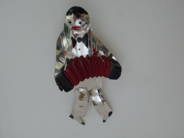 Butler & Wilson Deco Red Accordian Player
