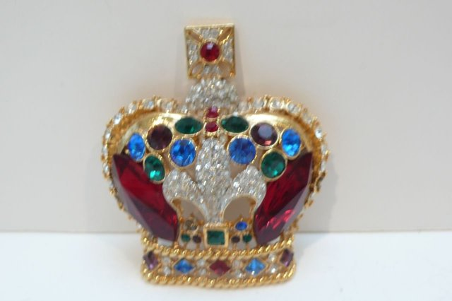 Butler and Wilson Crown Brooch