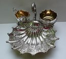 Victorian Silver Plate Strawberry Serving Dish