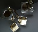 English Silver Plate The Cube Tea Set
