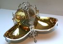 Victorian Silver Plate Chased 3 Way Biscuit Box