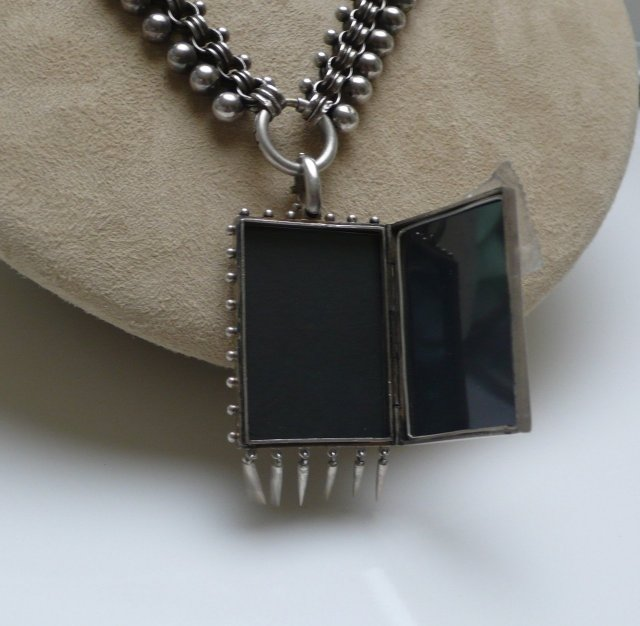 Victorian Sterling Silver Necklace & Locket