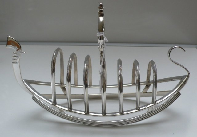 Victorian Silver Plate Gondola Toast Rack