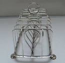 Sterling Silver Large English Toast Rack - London 1819