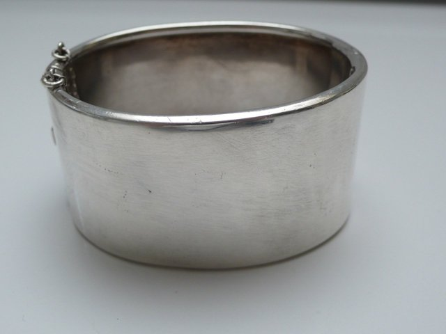 Victorian Sterling Silver Bangle