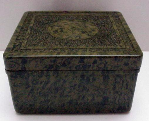 Bakelite Early English Mottled Green Box