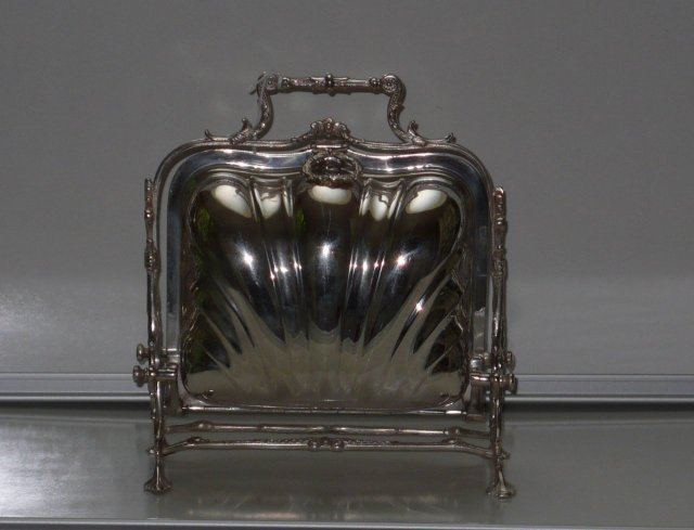 Victorian Silver Plate Folding Biscuit Box