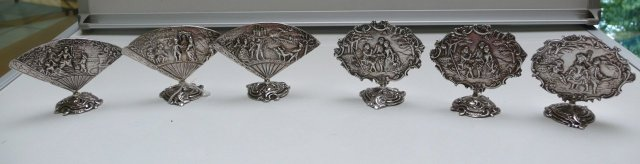 Sterling Set Of French Menu Holders