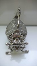 Victorian Silver Plate Pocket Book Biscuit Box
