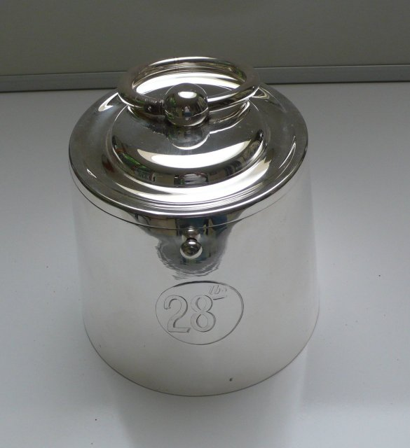 Victorian Silver Plate Cubelet Biscuit Box