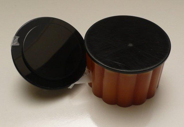 Bakelite Vintage Butterscotch Ribbed Deco Box
